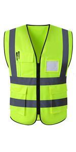 Neon Yellow Reflective Vest
