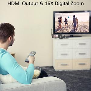 HDMI output and 16*digital zoom