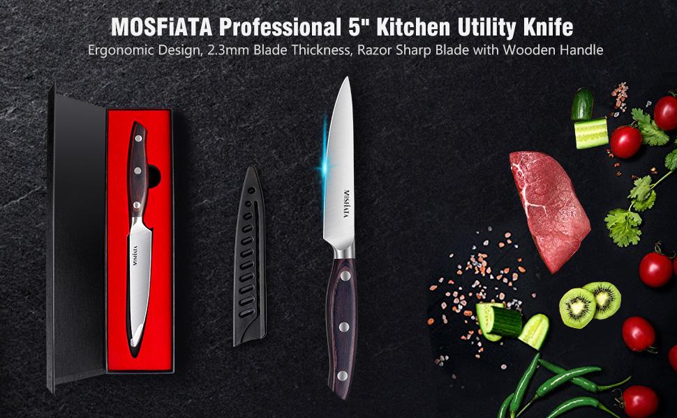 professional 5 inch kitchen utility knife