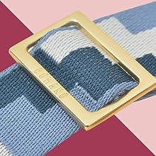 Gold matte hardware bag strap