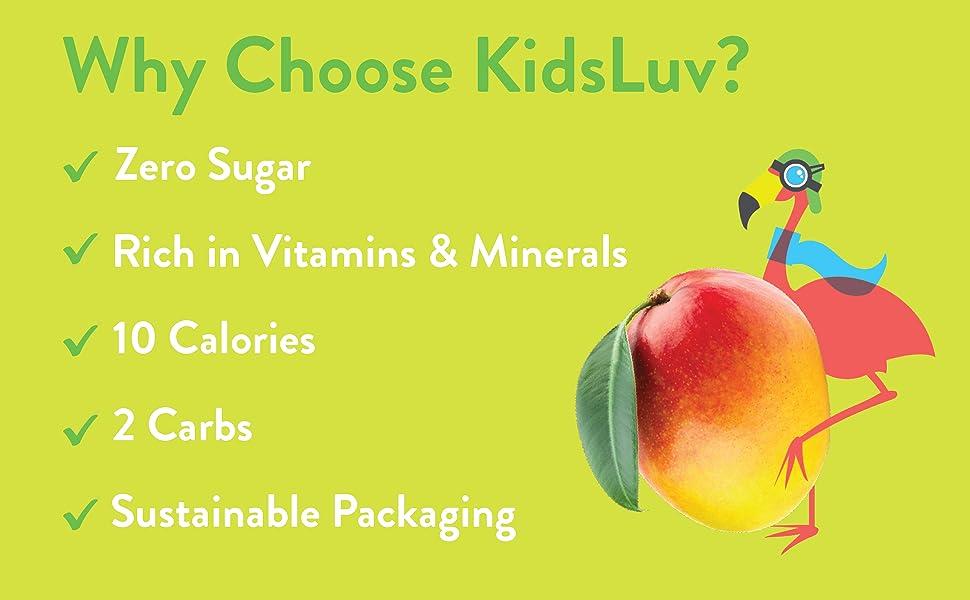 KidsLuv, Mango, Vitamins amp; Minerals, No Sugar