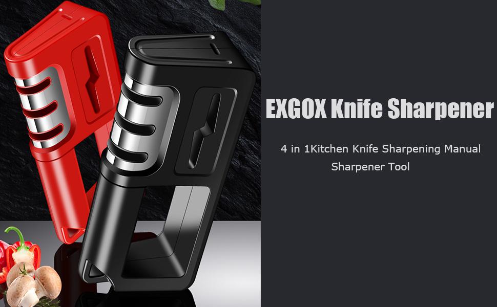 4 in 1Kitchen Knife Sharpening Manual