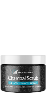 Charcoal Body Scrub Infused with Collagen and Stem Cell