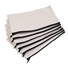 Yarlung 20 Pack Canvas Zipper Pouch