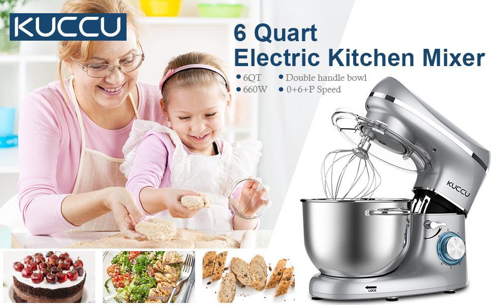 6 QT Electric Stand Mixer