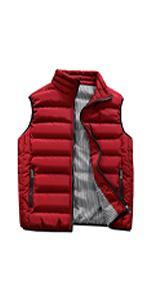 Guanzizai Menamp;#39;s Outdoor Casual Stand Collar Outwear Padded Vest Coats