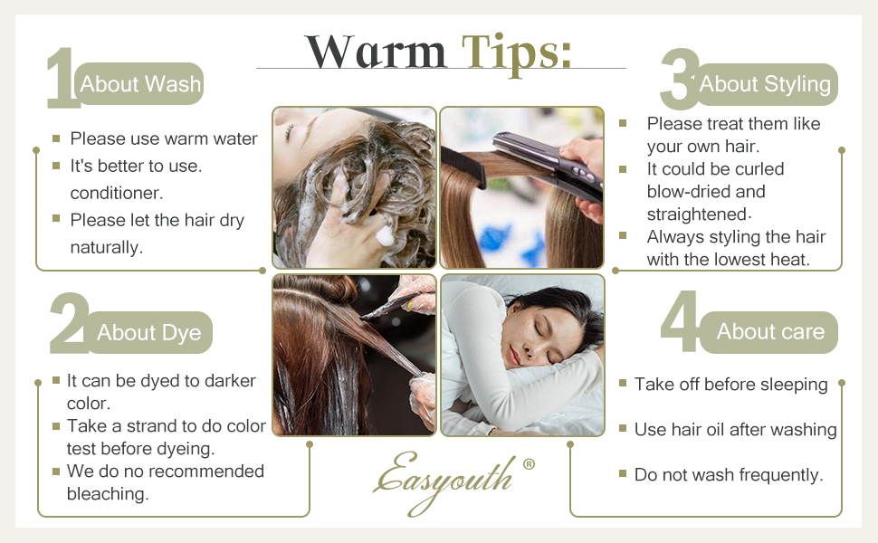 how to care your hair extensions clip in pu weft