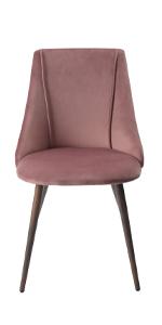 Rose Pink Velvet Dining CHiar Kitchen Table Side Seat Home Restaurant Funiture Set