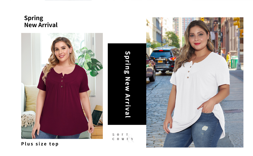 plus size loose shirt for women
