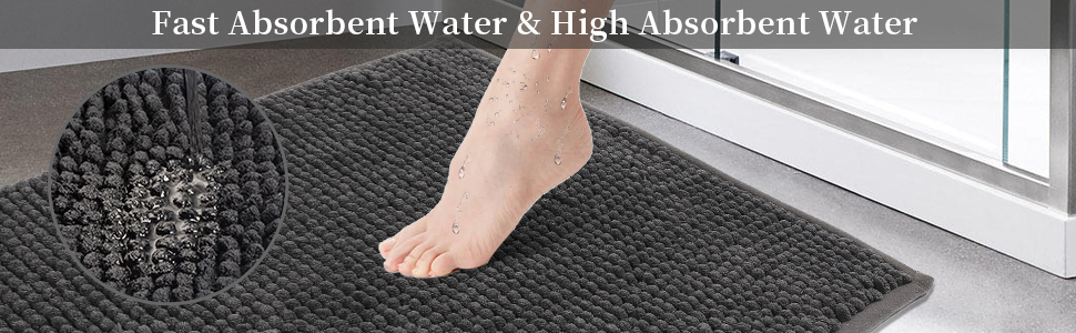 SHIMAKYO chenille bath rug with fast absorbent and higher absorbent