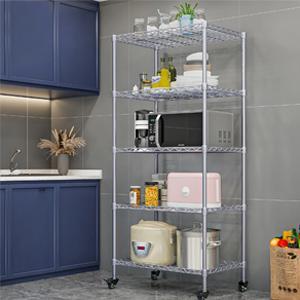 5shelf chrome kitchen