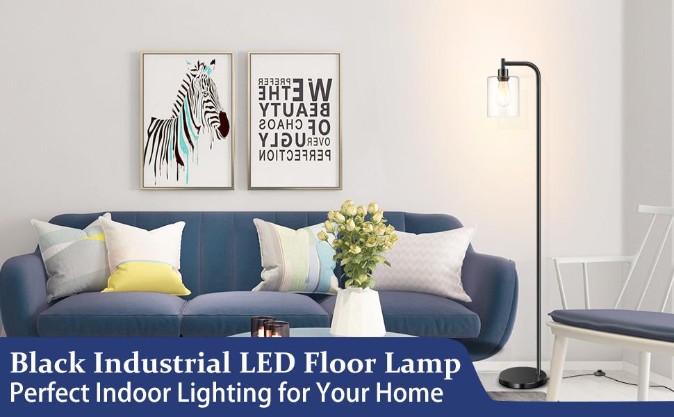 industrial floor lamp black