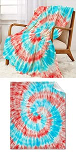 Tie Dye Throw Blanket Super Soft Warm and Comfortable