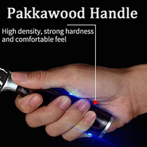 Ergonomic Pakkawood Handle