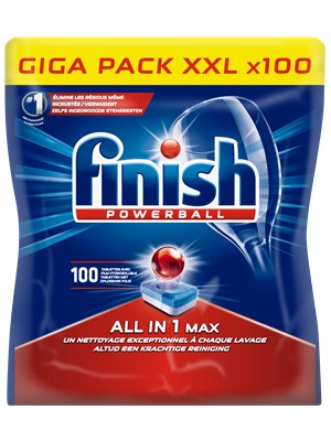 Finish All in One 100 Pastilles