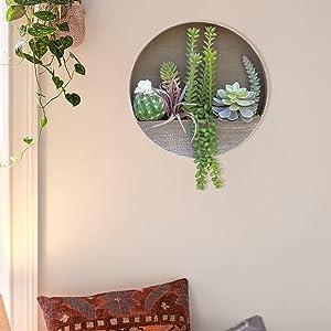 faux succulents in pot