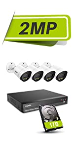 full color night vision security camera system