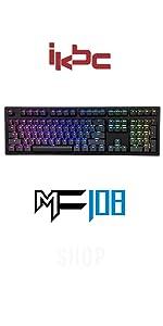 iKBC MF108V3 RGB Mechanical Keyboard ergonomic lighting