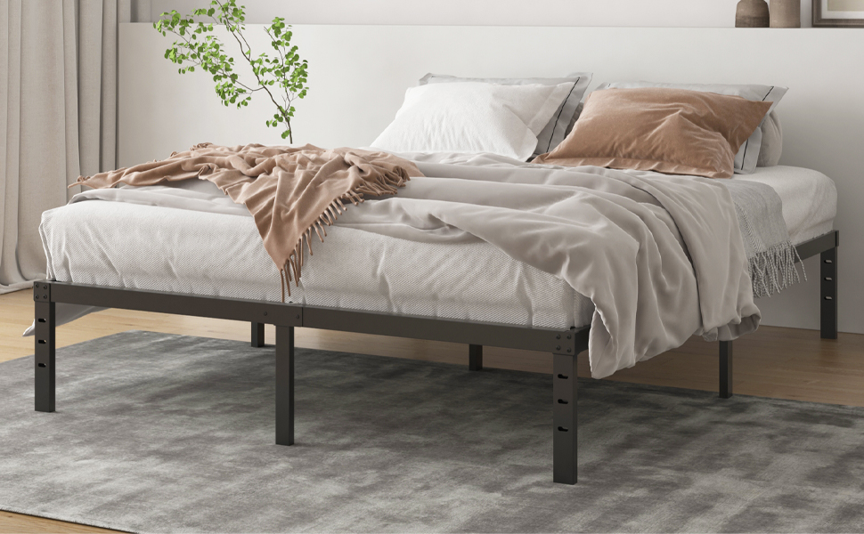 Queen Bed Frame With Wooden Slats