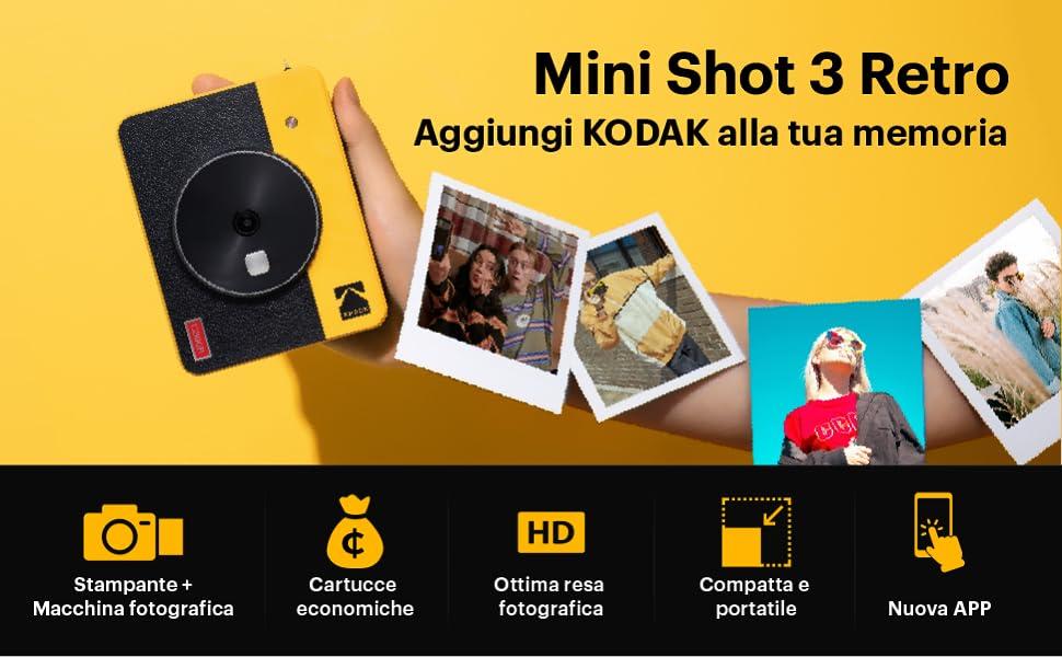 kodak minishot retro instantanea camera impresora polaroid camera camera de fotos impresora portátil