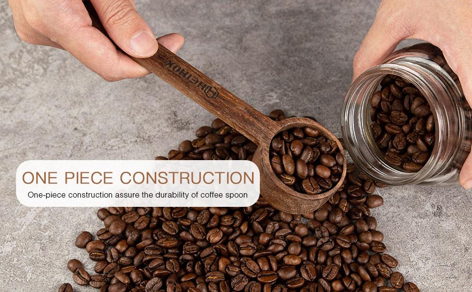 wodden coffee scoop