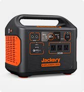 Jackery Portable Power Station Explorer 1500, 1534Wh Portable Generator with 3x110V/1800W AC Outl...