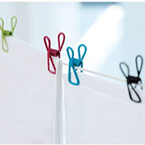 Clothesline Utility Clips PVC-Coated Steel Wire Clips Bag Clips