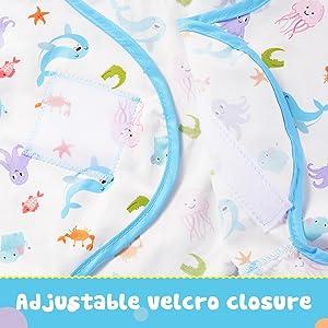 Adjustable velcro closure