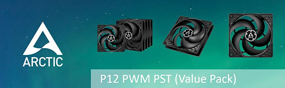 ARCTIC P12 PWM PST (Value Pack)