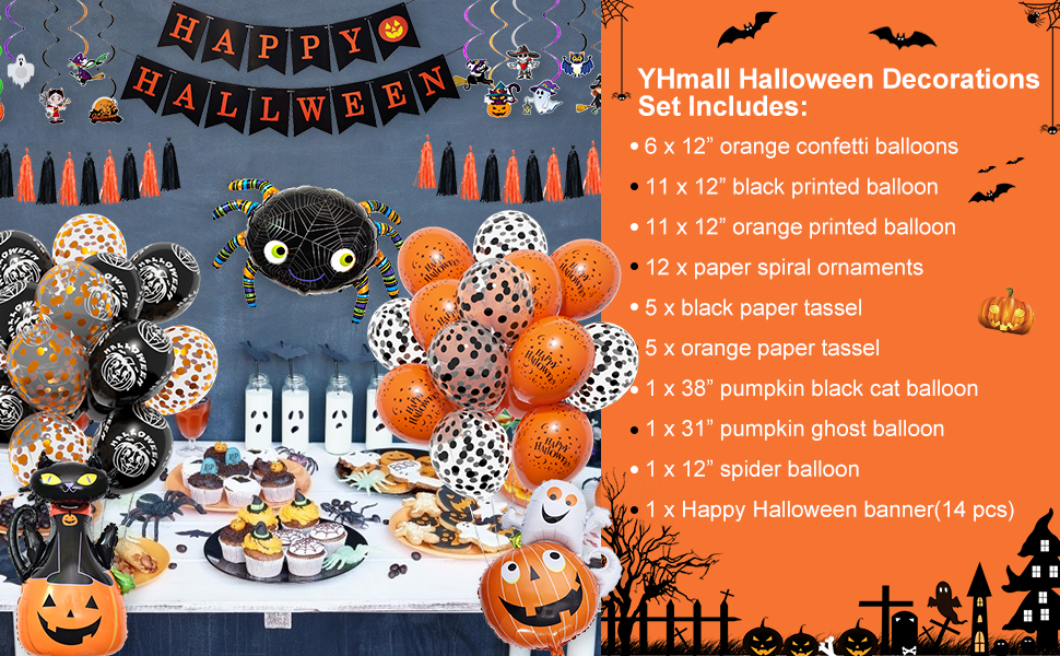 YHmall Halloween decoratieset