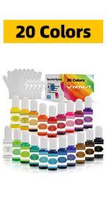 20 Colors Epoxy Resin Pigment