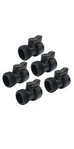 5pc hose valves