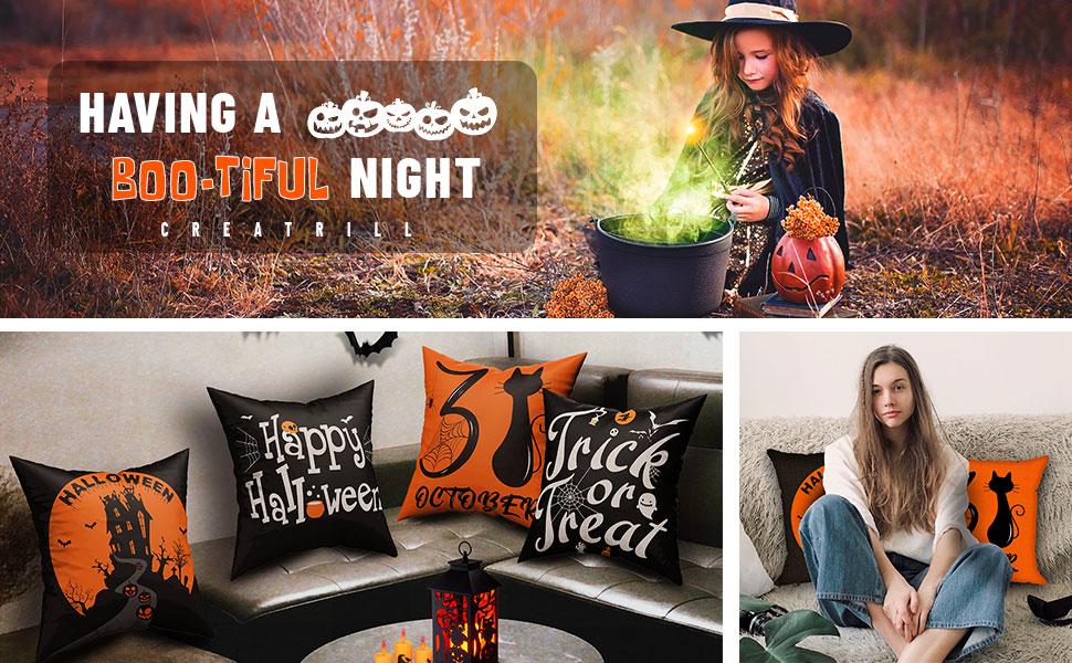 pillow covers halloween