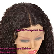 lace front wig with middle part