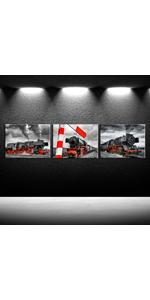 railroad car canvas art steam train picture framed black and white wall art for bedroom train