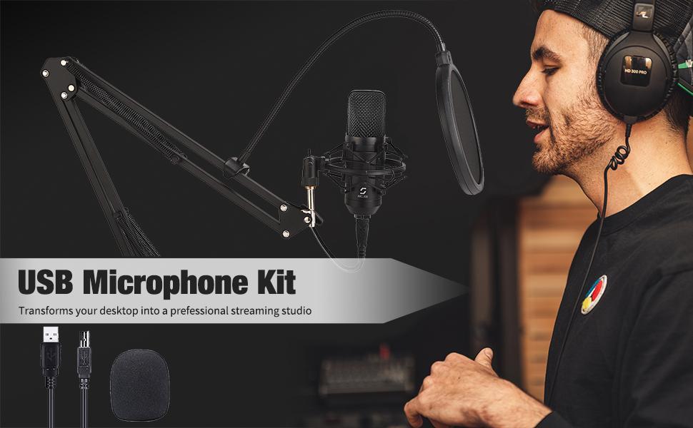 professional usb microphone set