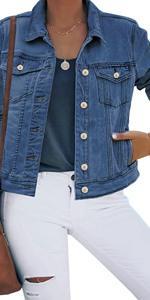 women denim jean jacket for women ladies classic boyfriend jean jacket coat