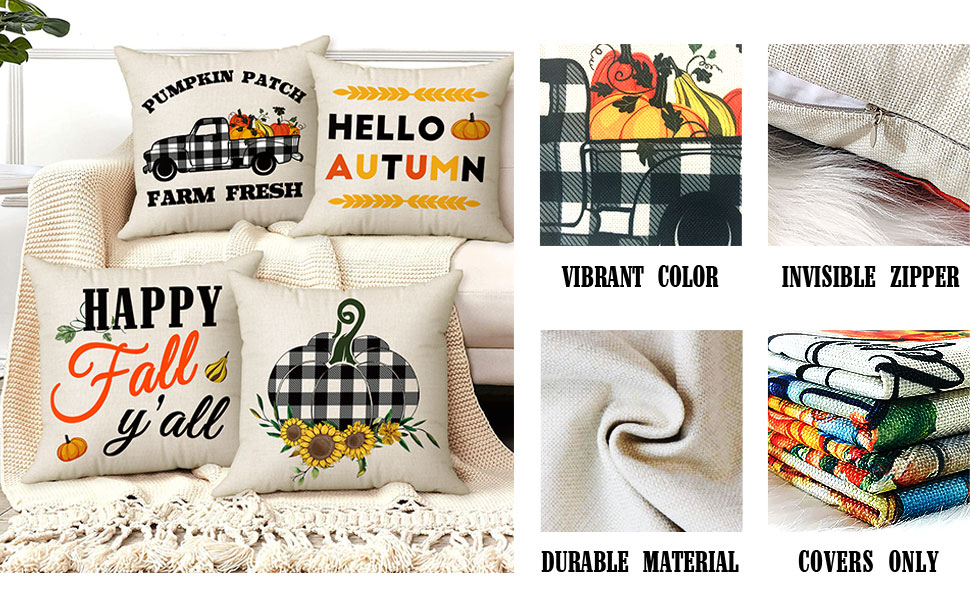 fall outdoor pillow covers 18x18
