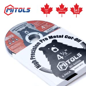 Mitols 4 1/2 Cut-Off Wheel 6 PC Packaging