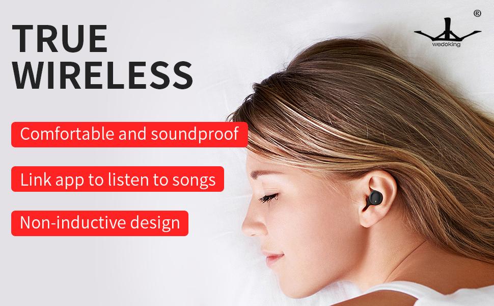 In-ear ergonomic design, only 0.095oz/2.7g,0.51 inch/1.3cm