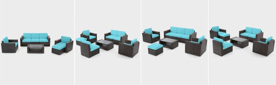 free combination patio furniture set