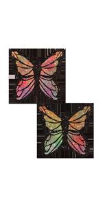 Premium Pastease - Monoarch Rainbow Glitter Nipple Pasties