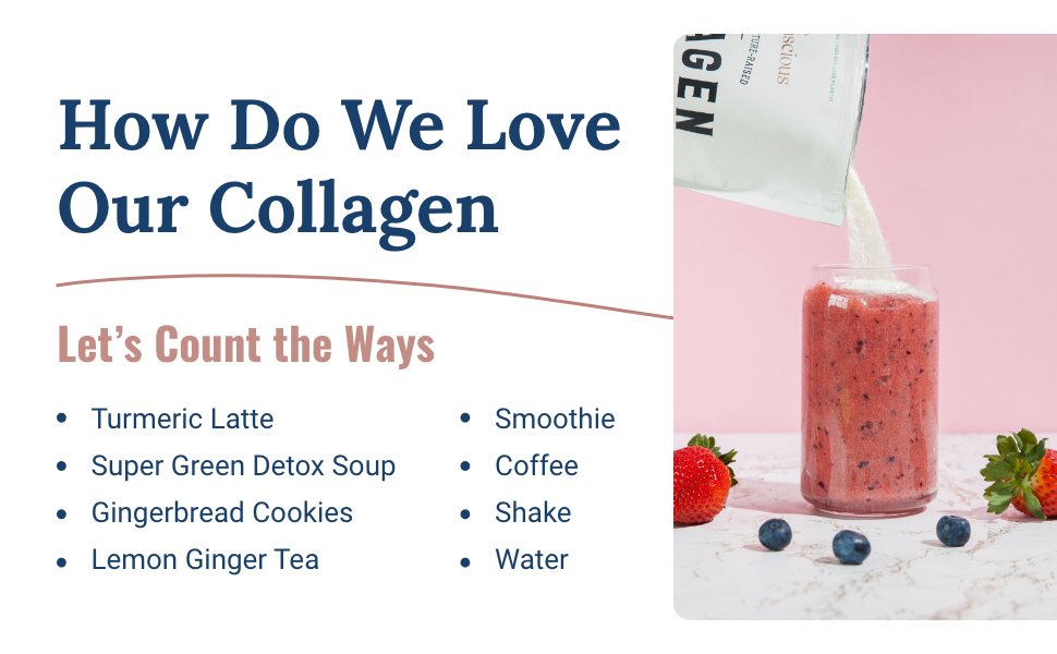 collagen gingerbread cookies smoothie coffee shake latte
