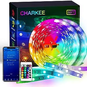 CHARKEE led strip lights bluetooth