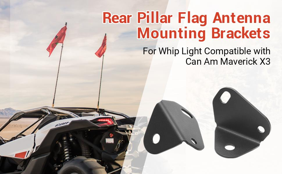 can am x3 whip mount