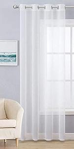 semi sheer curtain voile window treatment grommet top sage green