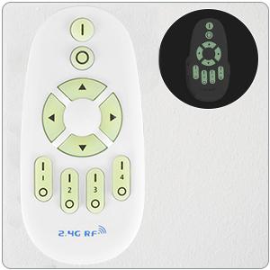 24W Applique Murale LED Avec télécommande LUTDK Smart Applique Murale Interieur
