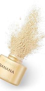 banana powder baking powder foundation blush powder
