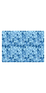 Low Profile Desk Chair Mats for Hard Floor or Carpeting with Creative Patterns and Colors