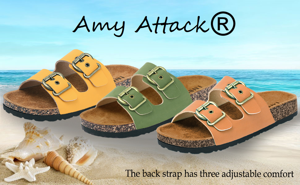 Amy Attack Cork Footbed Sandals For Women
